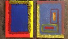 due quadri con tecnica mista