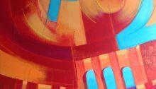 dipinto con acrilici e matite acquarellabili